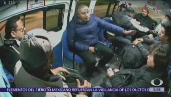 Video capta asalto en transporte público del Edomex