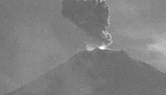 Foto: Volcán Popocatépetl emite fumarola con ceniza, el 23 de enero 2019