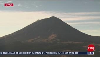 Volcán Popocatépetl amanece en calma tras explosión