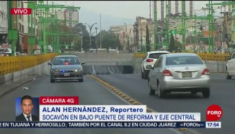 Zanja en Eje Central y Reforma