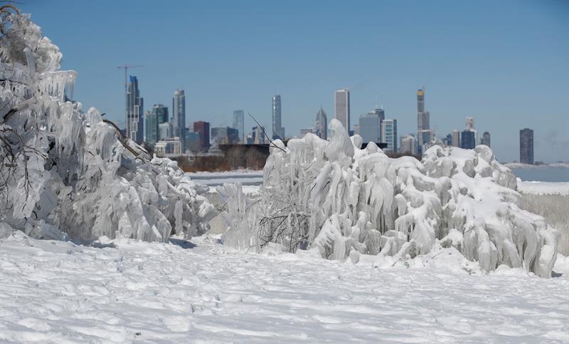 foto chicago congelamiento clima 30 enero 2019