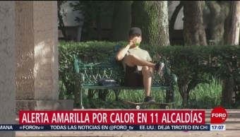 FOTO: Alerta amarilla por calor en 11 alcaldías de CDMX, 17 febrero 2019