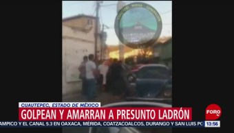 Amarran a ladrón en Cuautepec por robar celular