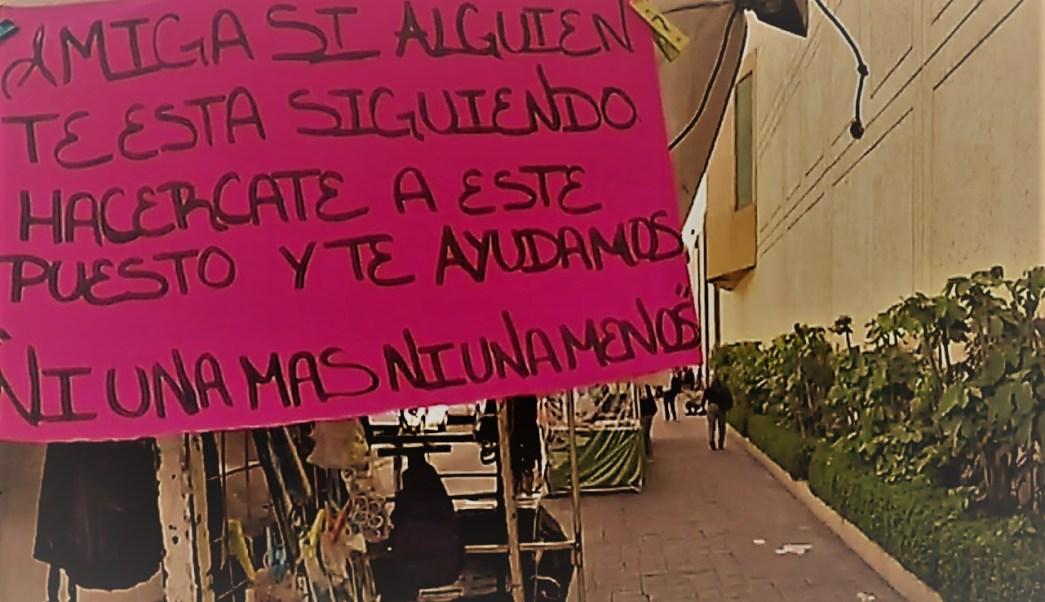 'Ni una más'; ambulantes de Balderas ayudan a mujeres de violencia y acoso