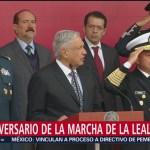 AMLO encabeza 106 aniversario de la marcha de la lealtad