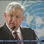 Foto: AMLO Encabeza Firma Acuerdo México ONU 13 de Febrero 2019
