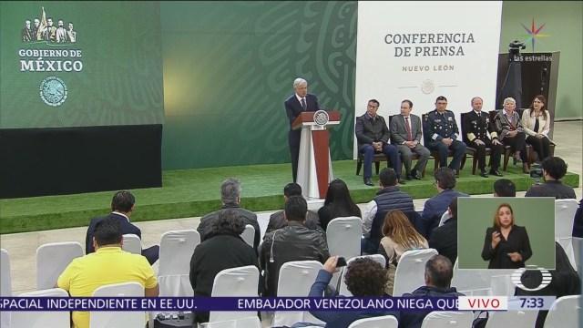 AMLO realiza conferencia mañanera desde Monterrey, Nuevo León