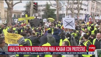 FOTO: Analiza Macron referéndum para acabar con protestas, 3 febrero 2019