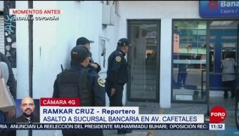 Asaltan sucursal bancaria en la alcaldía Coyoacán, CDMX