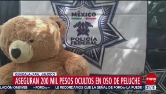 Foto: Dinero Oculto Oso Peluche Guadalajara 27 de Febrero 2019