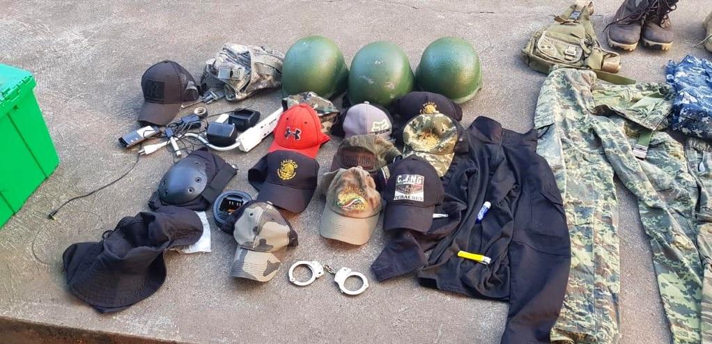 Foto: Bodega asegurada al CJNG en Veracruz, 6 de febrero de 2019. Twitter @SP_Veracruz
