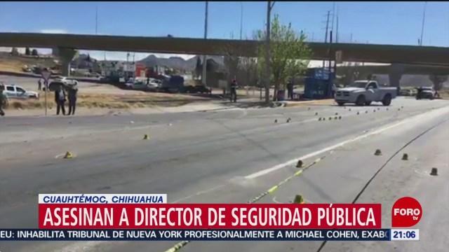 Foto: Asesinan Director Seguridad Pública Cuauhtémoc Chihuahua 26 de Febrero 2019