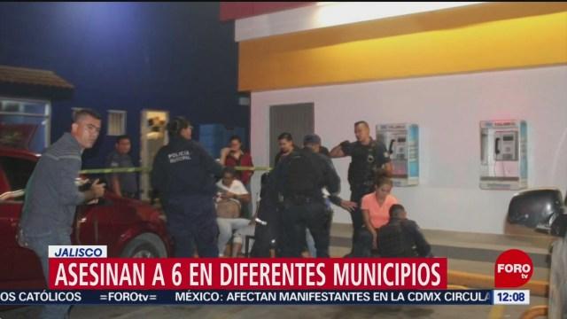 Asesinan a seis personas en diferentes municipios de Jalisco