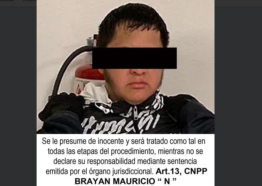 """Foto: Autoridad detienen a Brayan Mauricio """"El Pozoles"""", presunto feminicida la venezolana Kenny Finol, Ciudad de México, febrero 3 de 2019 (Twitter: @Dennisalberto)"""