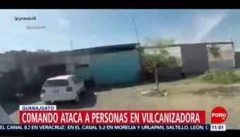 Atacan a personas en vulcanizadora en Valle de Santiago, Guanajuato