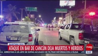 FOTO: Ataque en bar de Cancún deja muertos y heridos en Quintana Roo, 16 febrero 2019