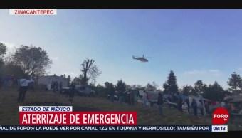 FOTO: Aterriza de emergencia avioneta en el Estado de México, 10 febrero 2019