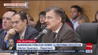 Foto. En la Cámara de Diputados, partidos analizan la reforma educativa y expresan puntos de vista sobre la propuesta del gobierno en audiencia pública