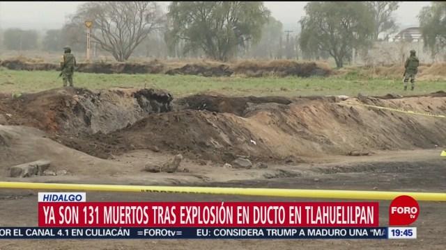 Foto: Aumenta 131 Cifra Muertos Explosión Tlahuelilpan 18 de Febrero 2019