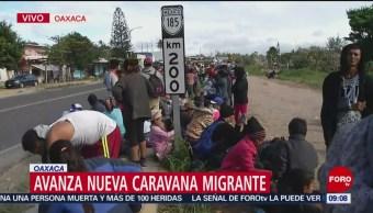 Avanza nueva caravana migrante hacia Veracruz