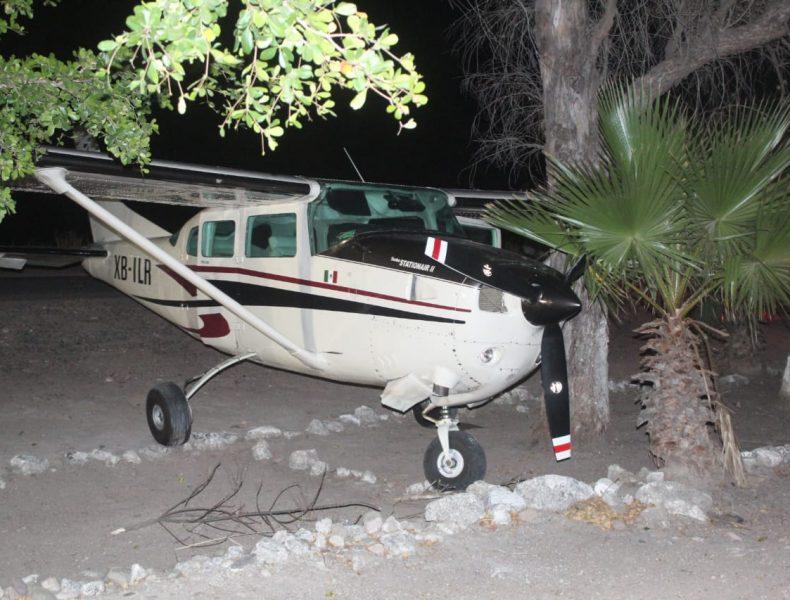 Foto: Avioneta asegurada en Sinaloa, 20 de febrero 2019. (Sedena)