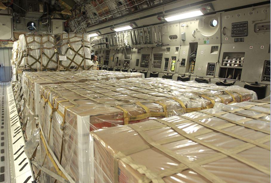 Foto: EU envía aviones militares con ayuda humanitaria para Venezuela, 16 febrero 2019