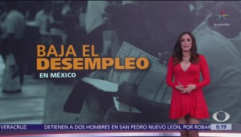 Baja el desempleo en México, revela INEGI