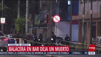 FOTO: Balacera en bar deja un muerto en Ciudad de México, 23 febrero 2019
