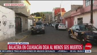 FOTO: Balacera en Culhuacán deja al menos seis muertos en CDMX, 17 febrero 2019