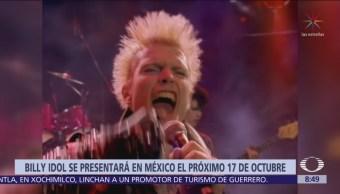 Foto: Billy Idol viene por primera vez a México