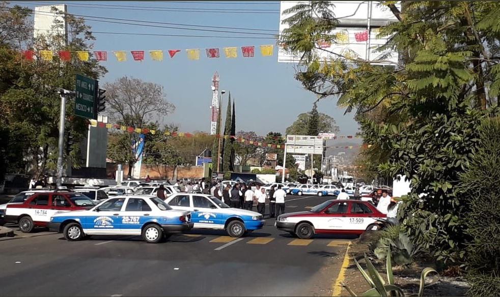 Foto: Bloqueos en Oaxaca, 15 de febrero 2019. Twitter @NotiRoja