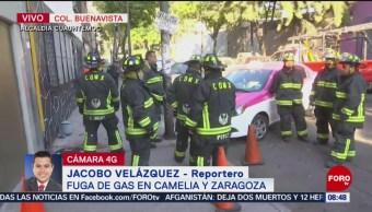 FOTO: Bomberos controlan fuga de gas natural en la colonia Buenavista, 3 febrero 2019