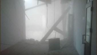 Foto: Se derrumba techo de edificio universitario en San Petersburgo, 16 febrero 2019