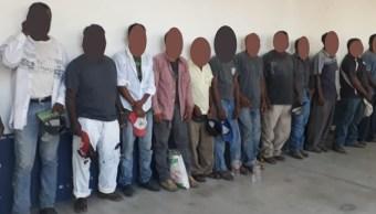 Foto: Campesinos detenidos en Oaxaca, 5 de febrero 2019. Twitter @GobOax