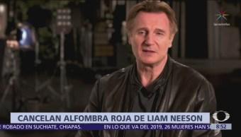 Cancelan alfombra roja en estreno de nueva película de Liam Neeson