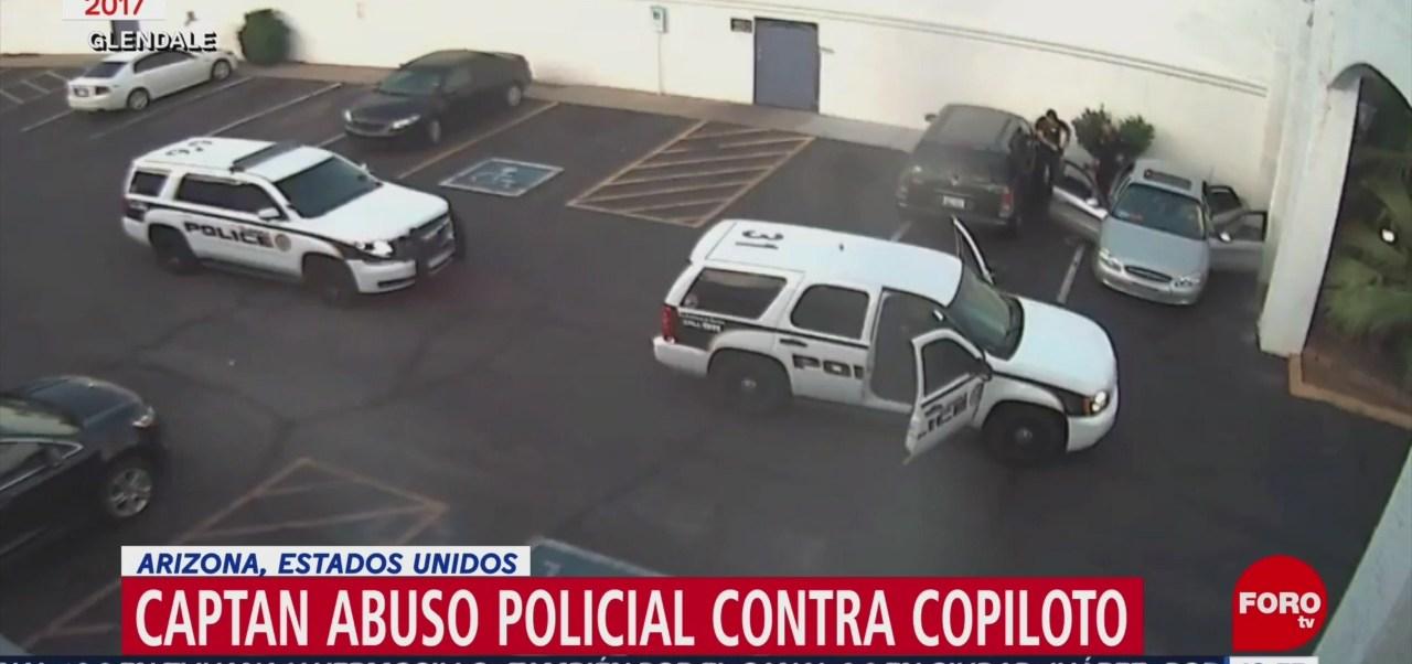Foto: Captan abuso policial contra copiloto en Arizona, Estados Unidos