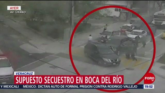 FOTO: Captan supuesto secuestro en Boca del Río, Veracruz, 2 febrero 2019