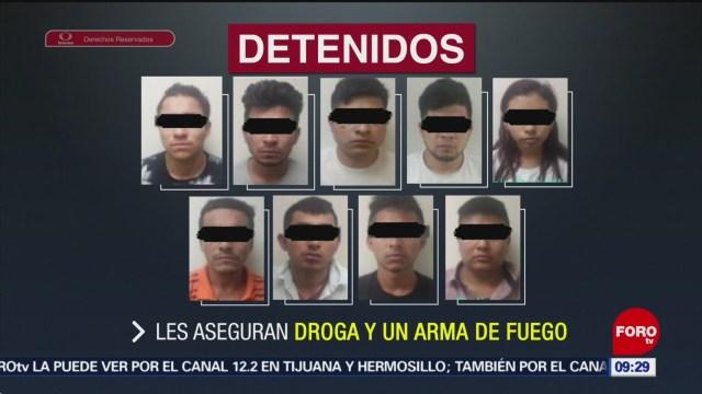 Capturan a nueve delincuentes en Nuevo León