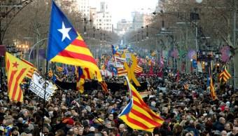Foto: Miles de catalanes protestan en calles de Barcelona, España, el 21 de febrero de 2019