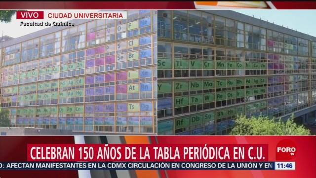 Celebran 150 años de la tabla periódica en la UNAM