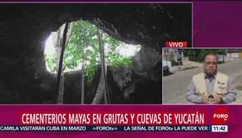 FOTO: Cementerios mayas en grutas y cuevas de Yucatán, 16 febrero 2019