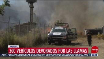 Cerca de 300 vehículos calcinados en Jalisco