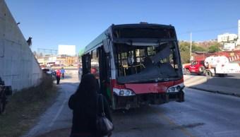 FOTO Choca Mexibús en Ecatepec contra camión de pasajeros edomex 19 febrero 2019