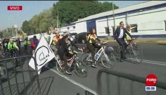 Ciclistas procedentes de Mexicali llegan a CDMX; piden infraestructura de movilidad