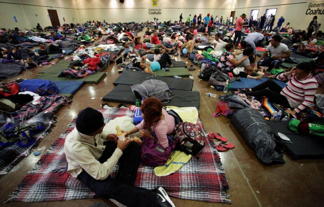 Foto: Migrantes centroamericanos saturan albergue instalado en Coahuila, el 10 de febrero de 2019
