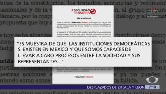 Colectivo #SeguridadSinGuerra celebra acuerdo de Guardia Nacional