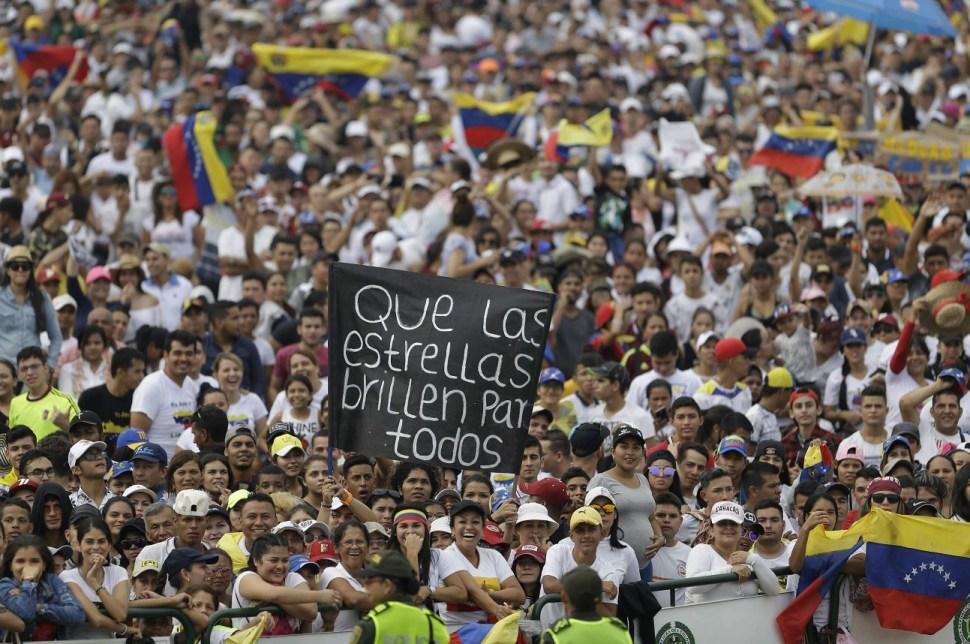 """Fot. Inicia en Cúcuta el multitudinario concierto """"Venezuela Aid Live"""", 22 febrero 2019"""
