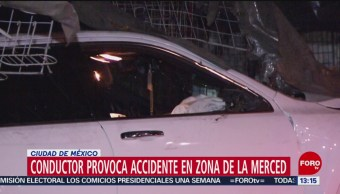 FOTO: Conductor provoca accidente en zona de La Merced, CDMX, 17 febrero 2019