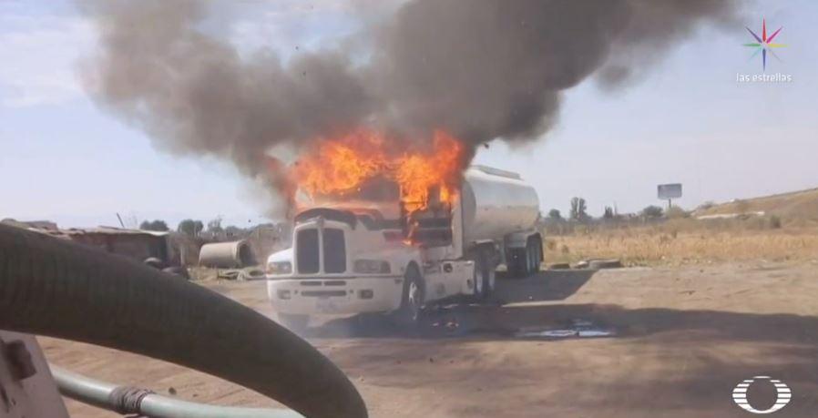 Foto: Continúan ataques y extorsiones del Sindicato Libertad contra pipas 26 febrero 2019