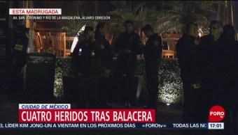 FOTO: Cuatro heridos tras balacera en plaza comercial de CDMX, 23 febrero 2019